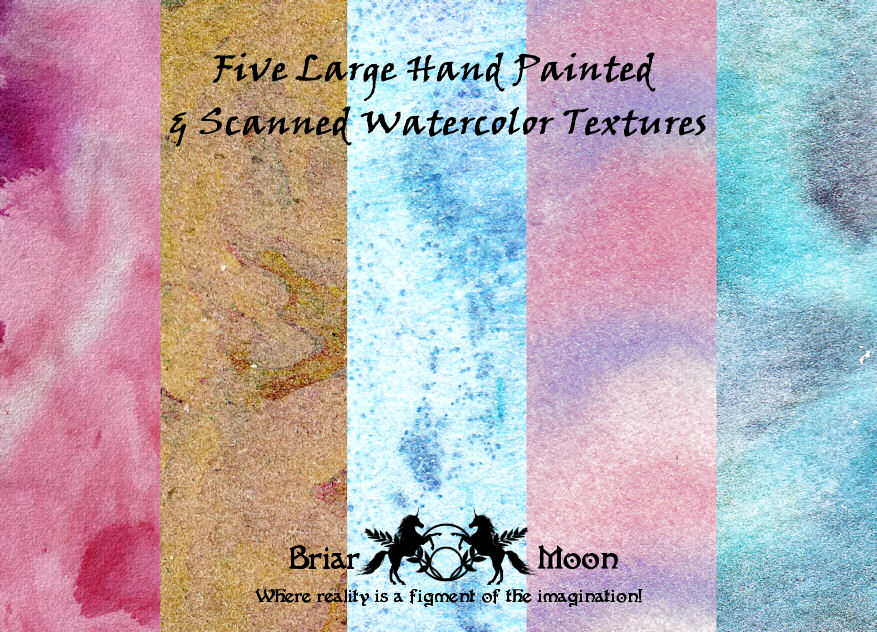 Watercolor Texture Pack 1 by briarmoon-stock