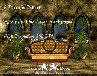 A Peaceful Retreat BG PSD File by briarmoon-stock