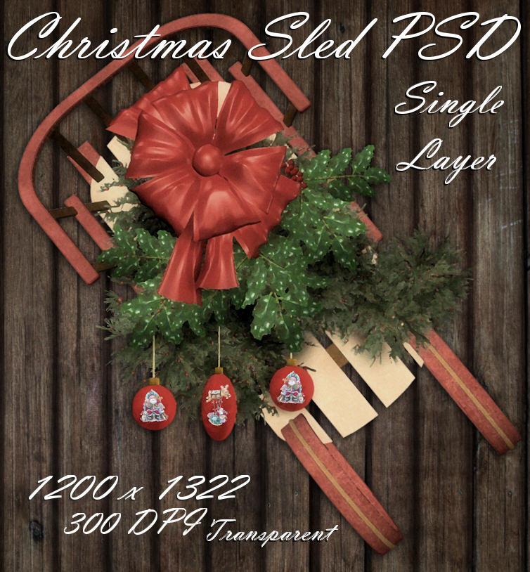 Christmas Sled PSD Zipped File