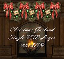 Christmas Garland PSD 300 DPI by briarmoon-stock