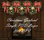 Christmas Garland PSD 300 DPI