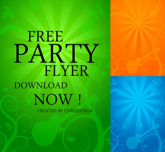 Party flyer by chrisdesign on deviantart for Free printable event flyer templates