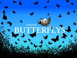 GIMP-Butterflys-Brush by Chrisdesign