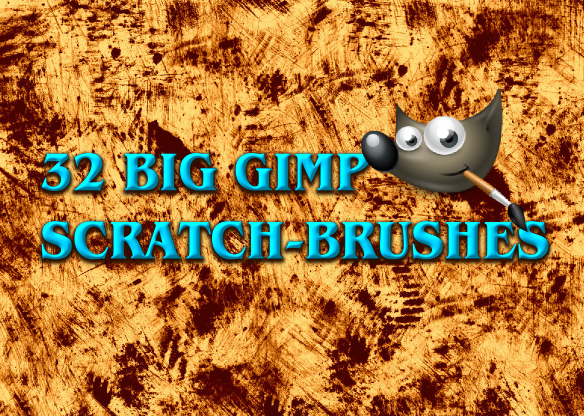 32 Big GIMP Scratch-Brushes by Chrisdesign