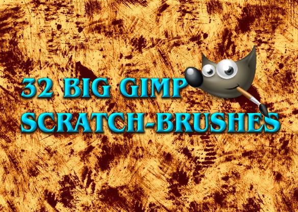 32 Big GIMP Scratch-Brushes by Chrisdesign