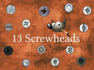 GIMP-Brush 13 Screwheads
