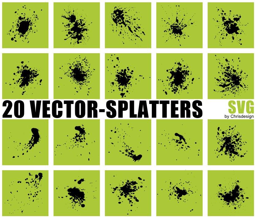 20 Vector-Splatters SVG