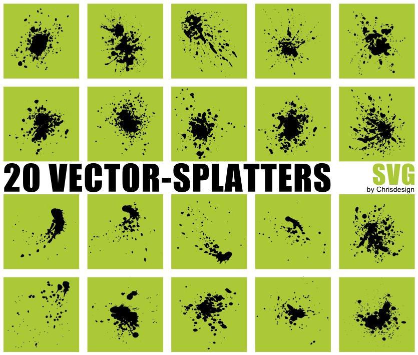 20 Vector-Splatters SVG by Chrisdesign