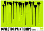 14 Vector Paint drips (long)