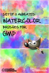 watercolor brush set by Chrisdesign