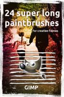 24 superlong paintbrushes for GIMP by Chrisdesign