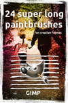 24 superlong paintbrushes for GIMP