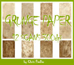 12x scanned Grunge Paper