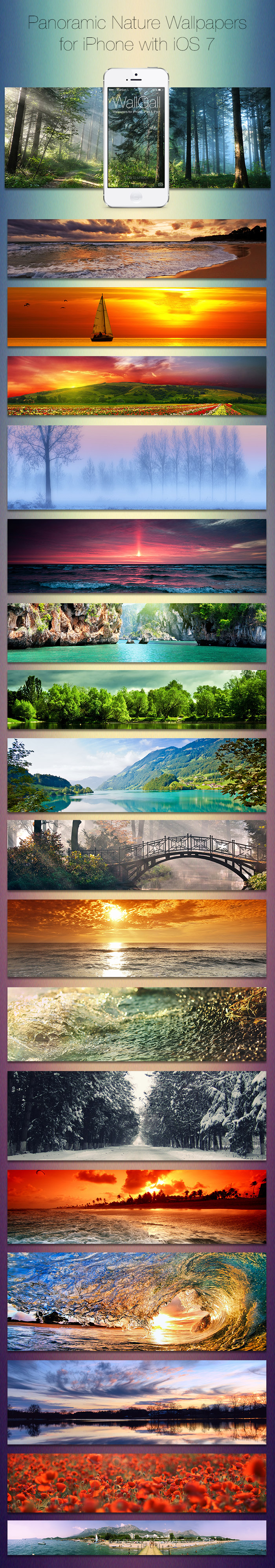 Iphone wallpaper pack tumblr - Iphone Ios 7 Wallpaper Tumblr Ios 7 Panoramic Wallpaper Pack For Iphone Nature By Coldik
