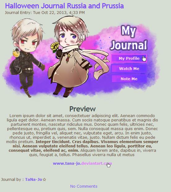 Rus Prus CSS Journal by TaNa-Jo