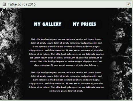 Black and white custom box design