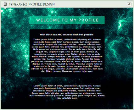 Green space custom box code design with psd file