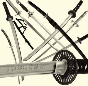 Swords-Katana Samurai Brushes by mxdonence