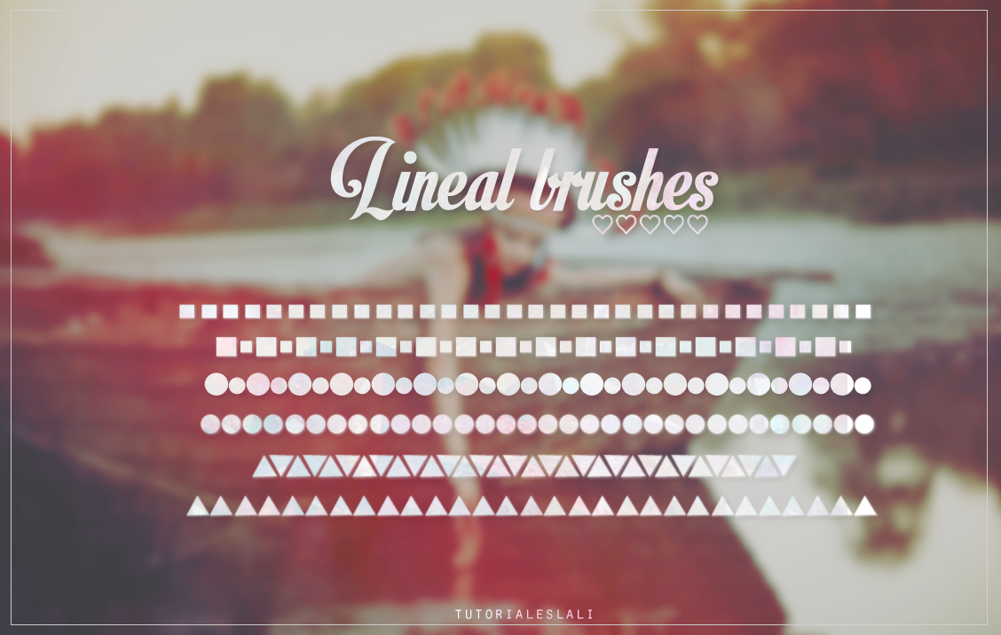 Lineal brushes by tutorialeslali