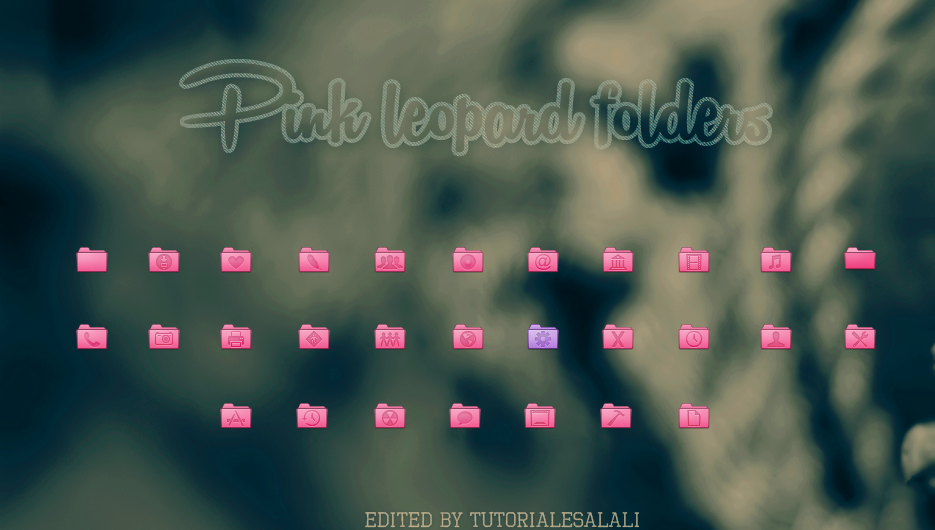 Pink Leopard Folders by tutorialeslali
