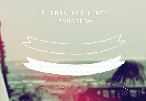 Ribbon & Lines brushes by tutorialeslali