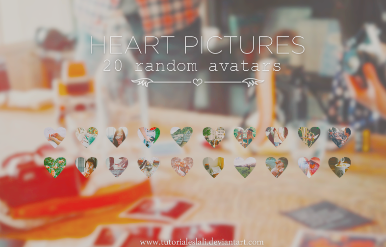 Heart Pictures {20 Random Avatars} by tutorialeslali