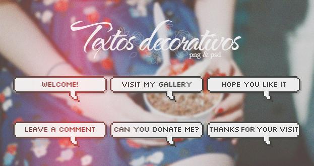 Textos decorativos [PNG/PSD] by tutorialeslali