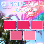 Sumer Pink Colors {Muestras