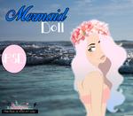 The Mermaid Doll. -PSD Y PNG