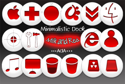 Minimalistic Dock-Milk Red by oooAdAooo