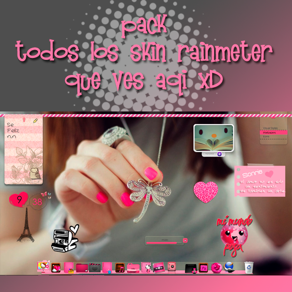 Pack de skins para Rainmeter by PinkMemories