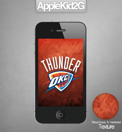 OKC Thunder IPhone Wallpaper By TevinFields