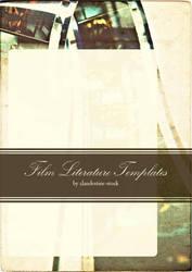 Film Literature Template II by clandestine-stock