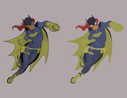 New Batgirl - Chokorroll - FLATS by Staminaboy