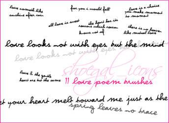 Love Poem Brushes by kissncontrol