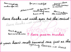 Love Poem Brushes