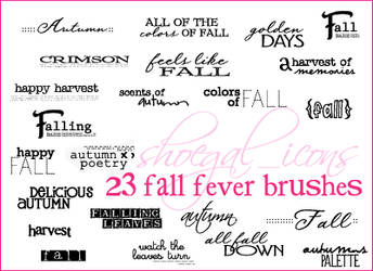 100x100 Fall Fever Brushes by kissncontrol