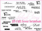 100x100 Fall Fever Brushes