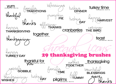 100x100 Thanksgiving Brushes