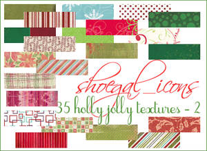 100x100 Christmas Textures II