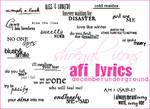 AFI Lyrics-decemberunderground