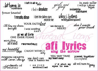 AFI Lyrical Brushes - Sing TS by kissncontrol