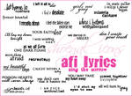 AFI Lyrical Brushes - Sing TS