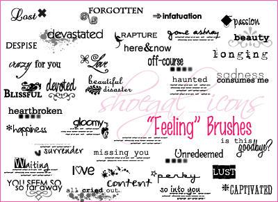 "100x100 ""Feelings"" Brushes by kissncontrol"