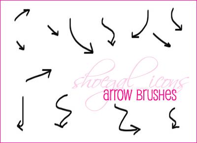 100x100 Arrow Brushes by kissncontrol