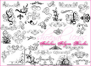 100x100 Fab Filigree Brushes