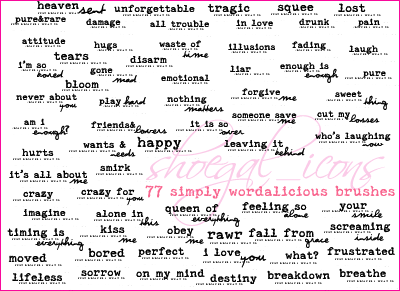 100x100 Wordalicious Brushes by kissncontrol