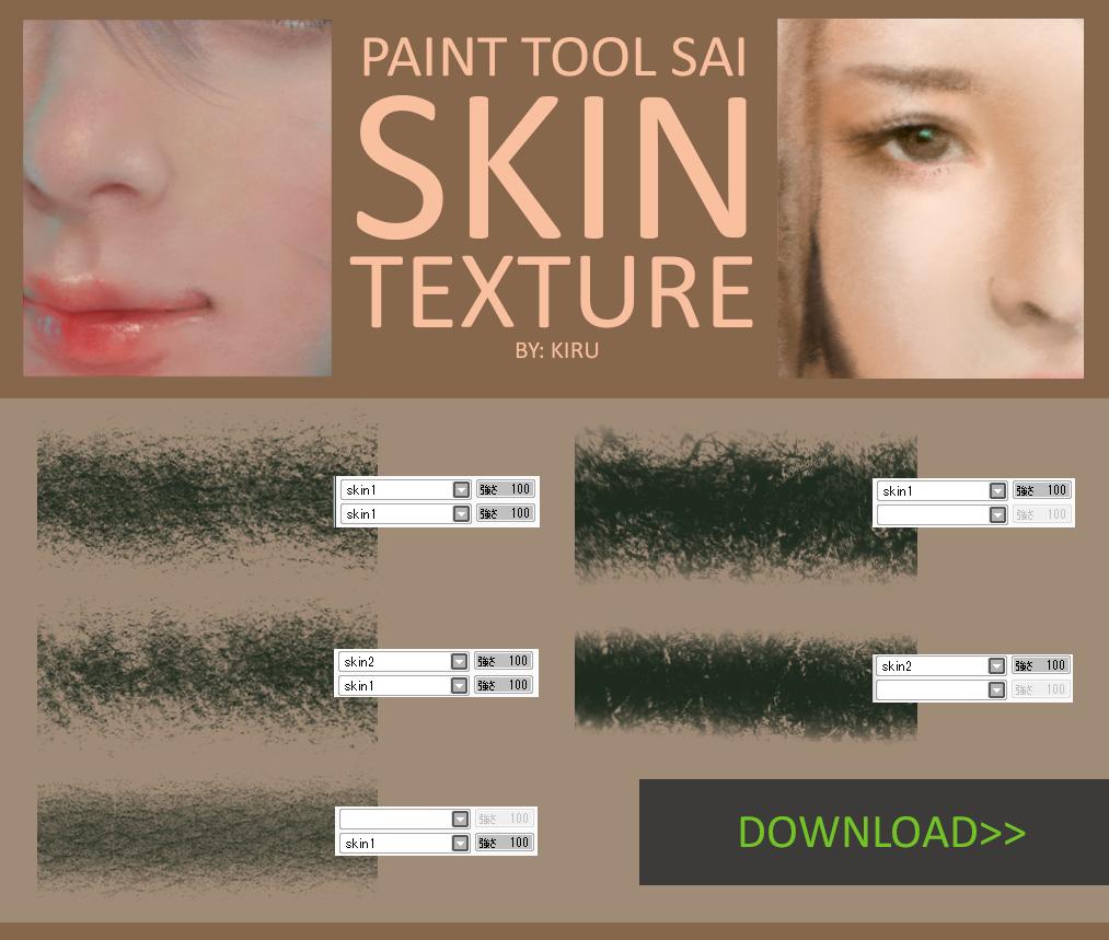 Textured Paint Tool Sai Brushes