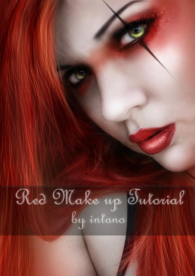 Red Make Up Tutorial by intano-stock