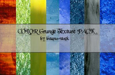 COLOR GRUNGE TEXTURES by intano-stock